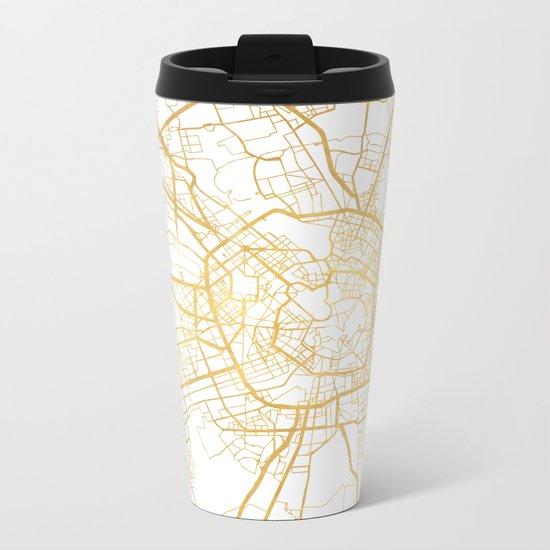MILAN ITALY CITY STREET MAP ART Metal Travel Mug