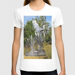 A Heron in the Glen- vertical T-shirt