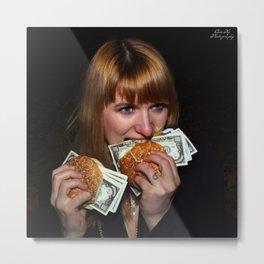 Eating Money Metal Print