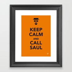 My Keep Calm Breaking Bad - poster Framed Art Print