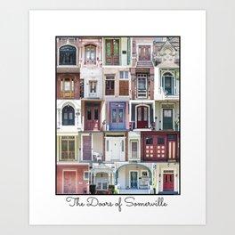 Doors of Somerville Art Print