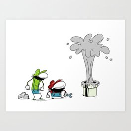 Mario Bros Plumbing Problems. Art Print