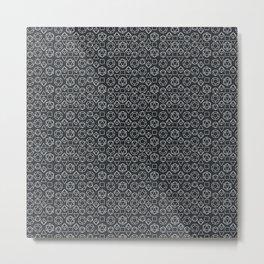 Black dice pattern Metal Print