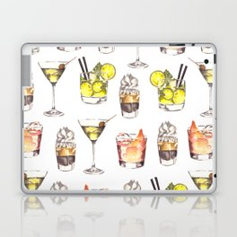 Fun Watercolor Drinks Pattern- Party Time Laptop & iPad Skin
