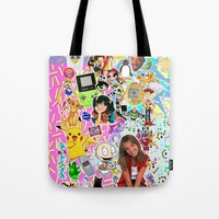 90s Tote Bags featuring 90s, childhood. by eriicms
