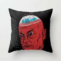 john Throw Pillows featuring John by jared stumpenhorst