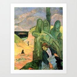 Paul Gauguin - The green Christ, or Breton Calvary - Digital Remastered Edition Art Print