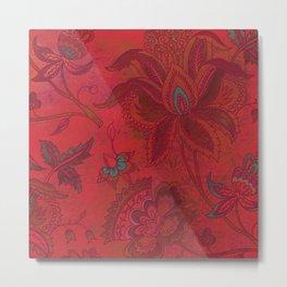 Jacobean Red Metal Print