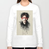 johnny depp Long Sleeve T-shirts featuring Johnny Depp by Brigitta