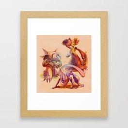Chesnaught, Greninja & Delphox Framed Art Print