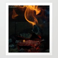 by the hearth Art Print