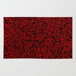 thought 2, red on black Rug