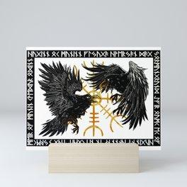 Huginn & Muninn - Norse Mythology Mini Art Print