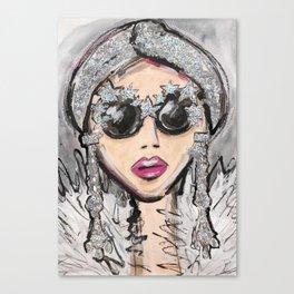 Glittler Glasses Girl Canvas Print