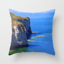 British coast Throw Pillow
