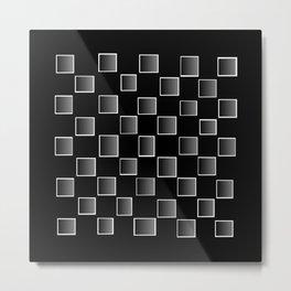 Grey Pixel fashion Metal Print