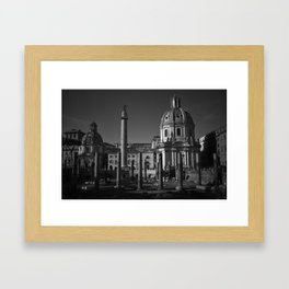 downtown Rome Framed Art Print