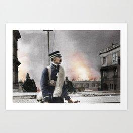 San Francisco Fire c.1906 - Colourised Art Print
