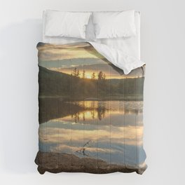 Lily Pond Sunset Comforters