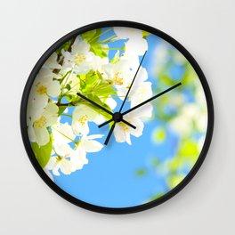 Bright Blooms Wall Clock