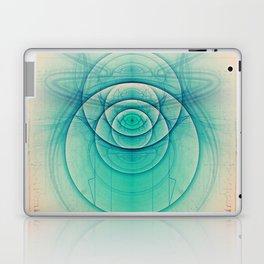 Egyptian Turquoise Scarab on Beige Sandstone Glyphs Laptop & iPad Skin