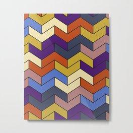 Geometric Chevrons Metal Print