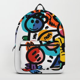Doodle Graffiti Art Cool and Joyful Creatures by Emmanuel Signorino Backpack