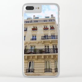 Paris France Downtown Clear iPhone Case