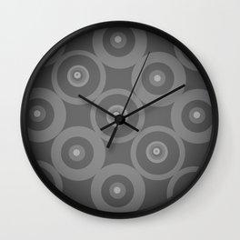 Black and White Circles Wall Clock