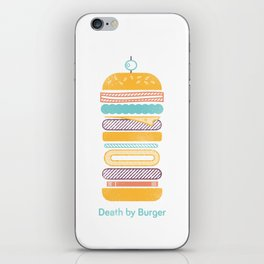 Death by Burger iPhone Skin