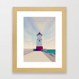 Low Poly Lighthouse Framed Art Print