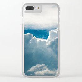 View of heavy clouds from above Clear iPhone Case