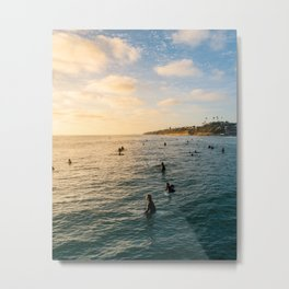 Sunset Surf Crew Metal Print