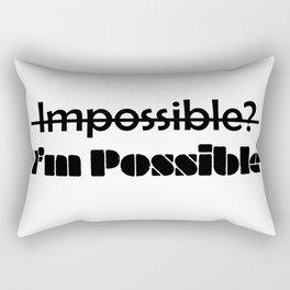I'm Possible Rectangular Pillow
