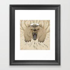 Roar of the Bear Framed Art Print