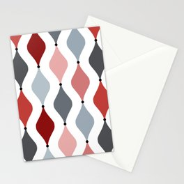 Colorful ogee pattern Stationery Cards
