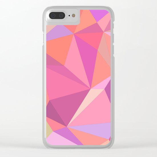 Triangle abstract Clear iPhone Case