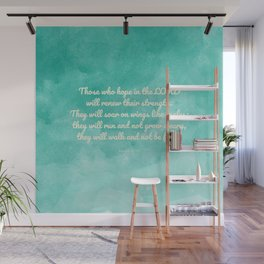 Hope in the Lord Bible Verse, Isaiah 40:31 Wall Mural