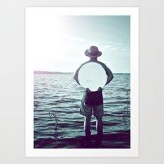 L'homme au miroir Art Print