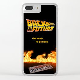 Back to the future Art Concept poster Clear iPhone Case