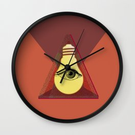 """Illuminati"" bulb Wall Clock"