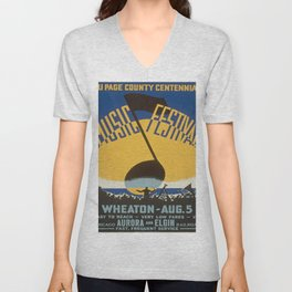 Vintage poster - Du Page County Centennial Music Festival Unisex V-Neck