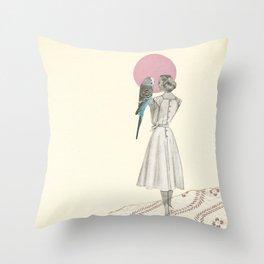 A Bird in the Hand Throw Pillow