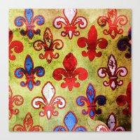 fleur de lis Canvas Prints featuring Fleur de lis #4 by Camille