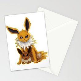Jolteon and Eevee Pup Stationery Cards