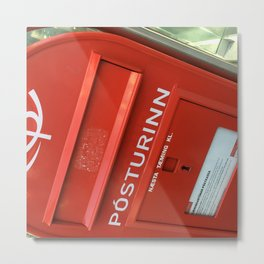 Iceland Post Office Box Metal Print