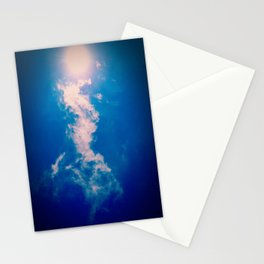 When the sun meets the cloud Stationery Cards