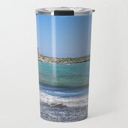 Lighthouse on the sea at Vieste, Puglia, Italy Travel Mug
