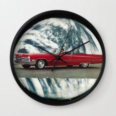 red mirror... Wall Clock