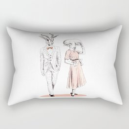 Bestial fashion couple Rectangular Pillow